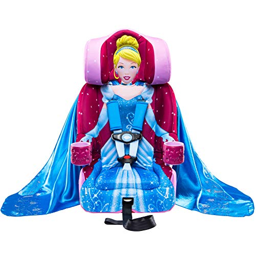 KidsEmbrace 2-in-1 Harness Booster Car Seat, Disney Princess Cinderella, Pink