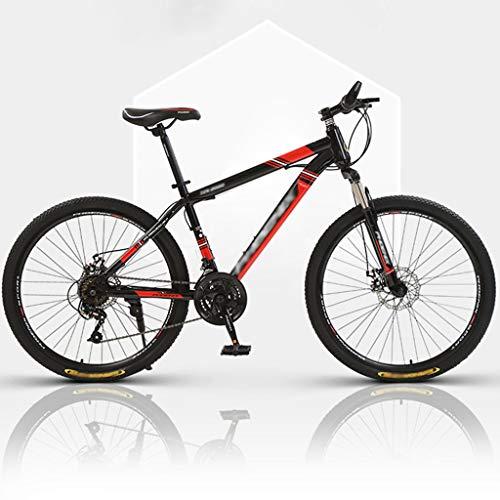 ZRN Traditional Bike Bicycle Classic Road Bikes Adult Mountain Bike 24/26' Wheel 27 Speed Carbon Steel Frame