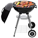 Best Choice Products 18in Portable Steel Charcoal...