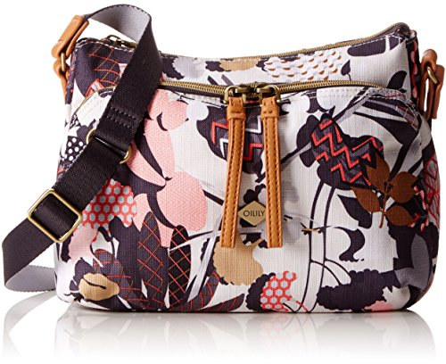 Oilily Damen S Shoulder Bag Umhängetasche, Grau (Charcoal), 9x19x26 cm