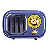 LICHONGUI Nuevo Altavoz portátil Retro Radio Bluetooth Player MP3 FM RAIDO TF Card U Disk AUX Mini RAIDO Speaker (Color : Blue)