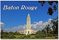 BEI YU MAN.co アメリカアメリカバトンルージュ議会議事堂ルイジアナ州大人のためのジグソーパズル子供1000個ギフト用木製パズルゲーム家の装飾特別な旅行のお土産