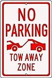 HUIOP Permiso de advertencia para estacionamiento, solo remolque, zona de alejamiento forzada, siempre original, diseño vintage, reglas de barra de metal estaño, arte para pared de 20 x 30 cm