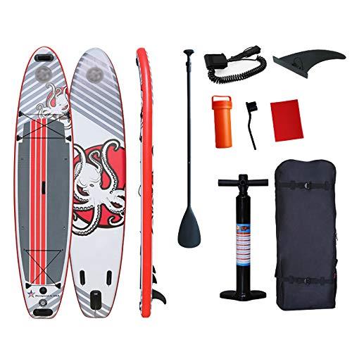 SJSF L Tabla De Paddle Surf Inflable De Tabla De Paddle Surf con Accesorios Completos Y Mochila Impermeable Tabla De Paddle Surf para Adolescentes Adultos En Río, Océano Y Lago
