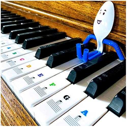 Xentyx Piano Keyboard Stickers For Beginners to Learn Key Piano Note Keys for ALL Piano Types 49/61/76/88