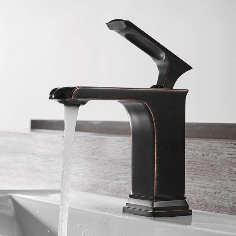 Lddpl Basin Faucet Single Handle Chrome Black Brass Faucet Hot & Cold Leaf Sink Faucet Mixer Tap Bathroom Faucet Lavatory Mixer