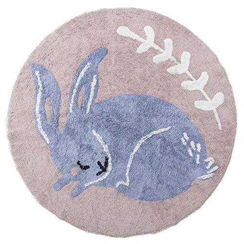 Sebra - Teppich, Kinderzimmer-Teppich - Bluebell das Kaninchen - blau - D 120 cm