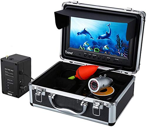 Eyoyo Portable 9 inch LCD Monitor Fish Finder 1000TVL Fishing Camera Waterproof Underwater DVR Video...