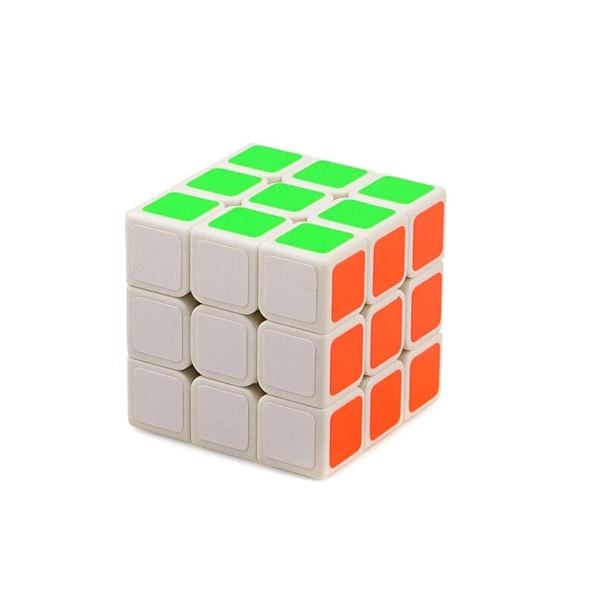 責めるに話す再生Jielongtongxun ルービックキューブ、スタイリッシュなホワイトキューブ、なめらかな感触、ゲームのプロ用キューブとして使用可能(三次) 美しい (Color : White, Edition : Third-order)