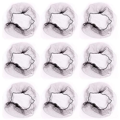 Vococal® Filets de Cheveux Invisibles 30Pcs 50cm Nylon Bord Élastique Noir