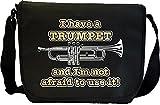 Trumpet Not Afraid Use - Sheet Music & Accessory Messenger Bag MusicaliTee