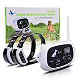 WOLFWILL [Upgraded Version Wireless Dog Fence System 2 Receivers with Rechargeable Waterproof Collar 500M Radius Remote Control