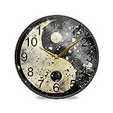 XiangHeFu Reloj de Pared Cuarzo Analógico Silencioso Tranquilo Baño Sala de Estar...