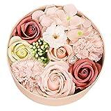 BRISEZZ Schöne handgemachte DIY Seife Blume Geschenk Rose Runde Box Pflanze Kunst Geschenk Bouquet...