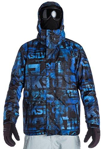 Quiksilver Herren Snowboard Jacke Mission 10K AOP, Leftover Blue, XXL, KTMSJ153-PRM3