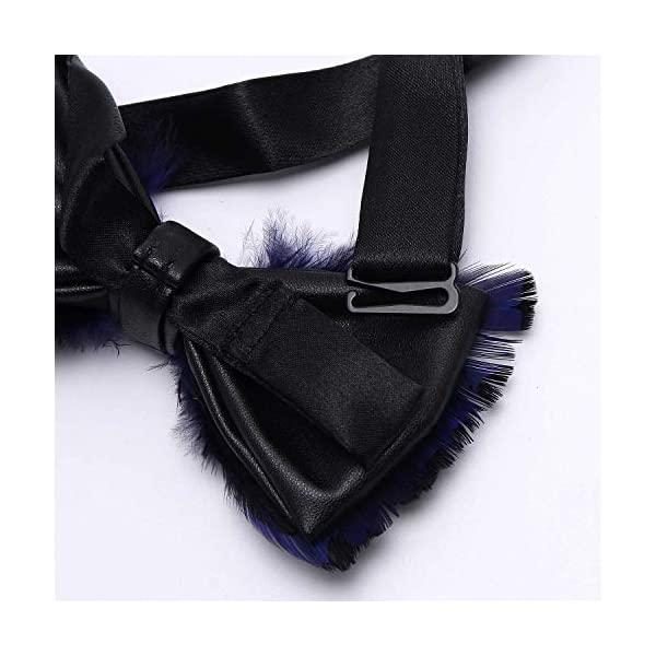 Mumusung Handmade Peacock Feather Pre-tied Bow tie for Men