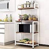 Estantería de cocina para estanterías de almacenamiento de metal, organizador de cables, soportes de pie, para microondas, estante de cocina, estante para utensilios de cocina