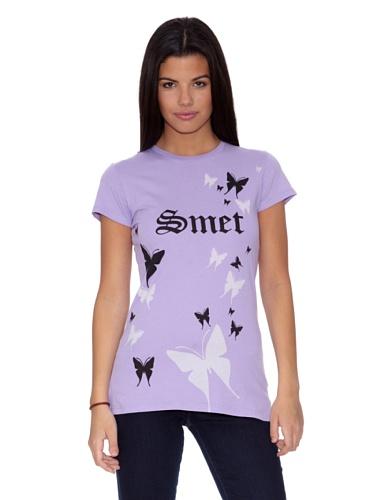 Ed Hardy T-Shirt S/S Buterfly Women Lavendel XL