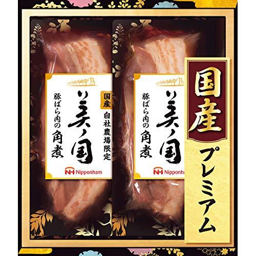 お中元ギフト 日本ハム 美ノ国 国産プレミアム 豚ばら肉の角煮 UKI−35 【発送:06/25〜08/07】 【受付終了:08/03】