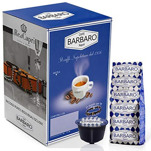 CAFFE' BARBARO Napoli Dolce Gusto Cremoso Napoli Miscela Blu - 100 Capsule