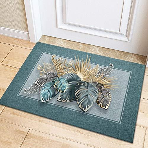 HLXX Alfombrilla de Suelo 3D Flora Alfombra de Sala de Estar de Franela Grande Alfombra de Dormitorio Suave para niños Alfombra de baño para niño Alfombra A17 60x180cm