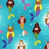 Fat Quarter Mermaids von Hana Bay, Baumwolle, bedruckt,