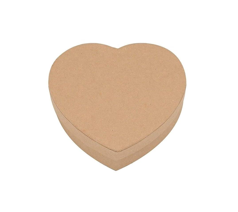 Glorex Heart Box, Cardboard, Natural, 9.2?x 9?x 2.6?cm