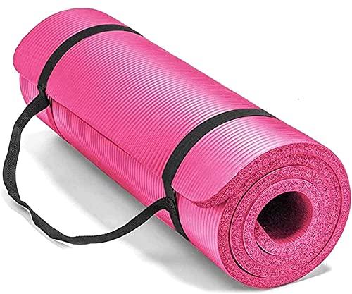 Espuma extra gruesa 10 mm alfombra de yoga NBR Eco Friendly Friendly Friendly Ejercicio de la estera con bolsa de transporte y correa Estera de aptitud ligera compacta para el gimnasio de ejercicios,