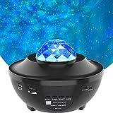 Lámpara Proyector, Amouhom Proyector Estrellas & Océano 2 in 1 Lámpara de Nocturna con Rotación y Música, Temporización, Remoto y Bluetooth 10 Modos Luz de la Noche Perfecto Regalo Navida