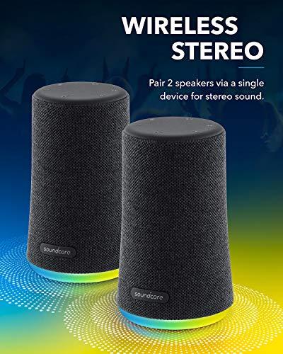 Soundcore Flare Mini Altavoz Bluetooth, Altavoz inalámbrico portátil, IPX7 Impermeable para Fiestas al Aire Libre, emisión de Luces LED con Sonido 360° y tecnología BassUp™