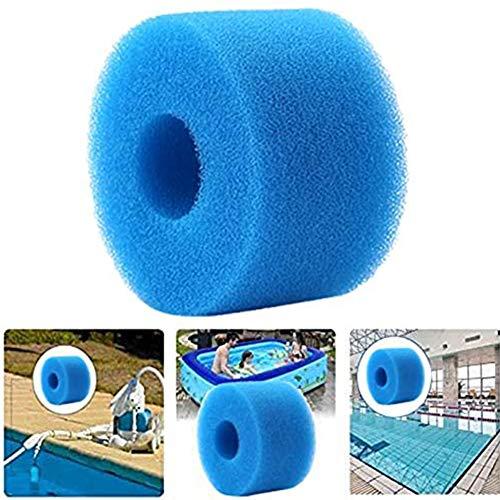 2 Pack Schwimmbad Filter Schwamm, Pool Filterschaum Filterkartuschen für Intex S1 Typ,Swimming Pool Filter Sponge,Filterkartuschen Pool,wiederverwendbar und waschbar Filterschwamm