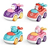 WSTERAO Coches de Juguete para niños de 1 a 2 años de Edad, Juguetes para bebés Push and Go Coches de Juguete Push and Go, Coches impulsados por fricción, Juguetes, Camiones, Coches