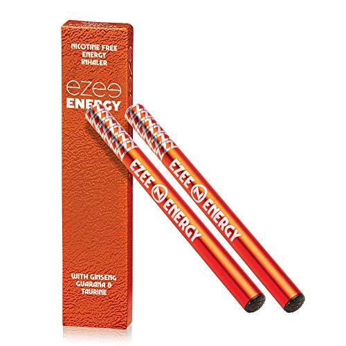 Ezee Energie Inhalator mit Koffein Einweg ca. 400 Züge Vitamin C - Ginseng - Taurin - Guaraná (gibt das Koffein) Packung mit 2 Stück