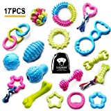 SZKOKUHO 17 Packs Durable Pet Puppy Dog Chew Toys Set Puppy Teething...