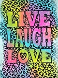 Pintura de diamante 5D Live Laugh Love Saying Full Round Drill Kits de diamante bordado punto de cruz arte mosaico decoración de la pared del hogar regalo (40 x 50 cm) c18