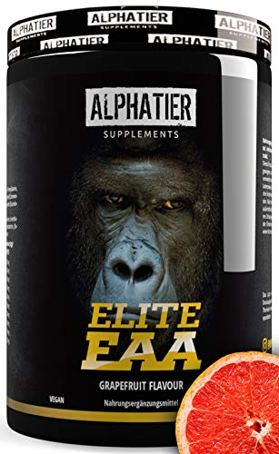 EAA Poeder 500g - HOOGSTE DOSERING - alle essentiële aminozuren - Grapefruit smaak - Alphatier Instant EAAs Poeder - Essentiële aminozuren
