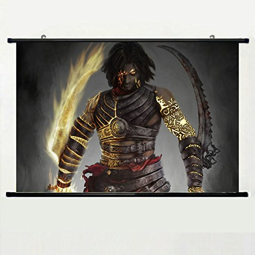 Price comparison product image Wall Posters Wall Scroll Poster with Prince of Persia Warrior Within Art Game Home Decor Fabric Painting 23.6 X 15.7 Inch