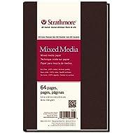 "Strathmore 566-5 500 Series Hardbound Mixed Media Art Journal, 5.5"" x 8.5"", White, 32 Count"