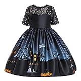 Auifor Vestido de Novia de la Princesa Beauty Party Princesa Dress Tutu los niños de Dibujos Animados de Calabaza de Halloween la impresión del cordón Muchacha de la Historieta