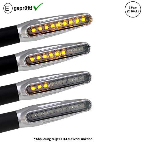 LED Blinker kompatibel mit Honda FMX 650, NTV 650, CA 125 Rebel, (E-Geprüft / 2Stück) (B16)