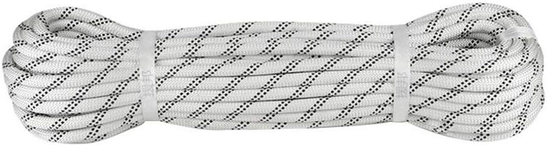 GYHHHM Kletterseil, 10mm Braided Rope 10, 20, 30, 40, 50, 60, 80, 100 Meter, Heavy Rope mit Sicherheitsverriegel, Durchmesser 10mmSafe und Haltbarkeit,Weiß,100m B07PK964MQ  Für Ihre Wahl