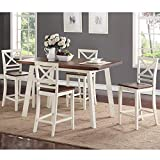 Standard Furniture Amelia Counter Height Dining Table Set, Includes Table and 4 Counter Height Bar Stools