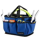 Housolution Garten Werkzeugtasche, Deluxe Garten Werkzeug Aufbewahrungstasche und Gartengerätetasche mit Kleinen Taschen, Verschleißfest und Wiederverwendbar, 14 Zoll, Dunkelgrün