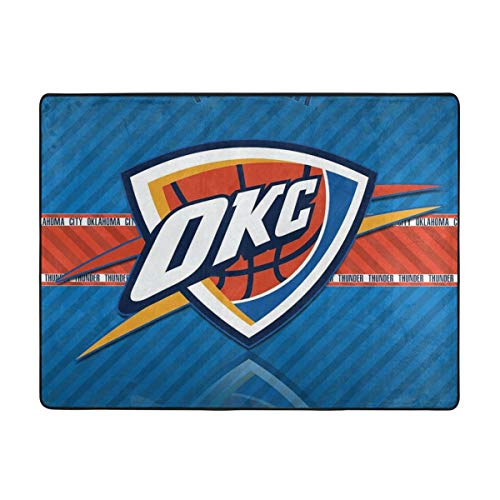 Dopy Oklahoma City Basketball Fans Large Area Rugs for Living Room Bedroom Kids Area Rugs Baby Rugs for Play Area Rugs 4'x5'3'' Ft Under 50