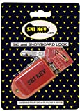 Ski and Snowboard-Fat Ski Lock (Red)