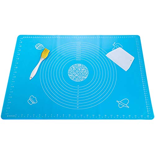 PARACITY Silicone Baking Mat, Extra Large Pastry Mats with Baking Brush for Rolling Dough, Non Stick BPA Free Food Safe Cooking Set