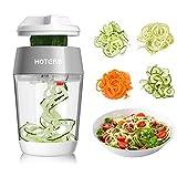 hoterb coupe légumes spirale,4 en 1 spiralizer legume mandoline de cuisine pour spaghettis de