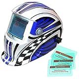 Funciona con energía solar auto oscurecimiento soldadura casco con función de molienda, 8colores disponibles
