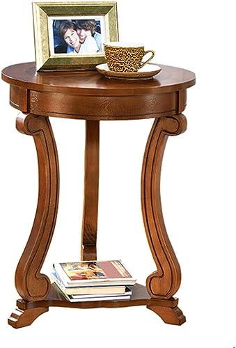 NAN Table de téléphone Ronde Premier Housewares, 46 x 59 cm - Peuplier