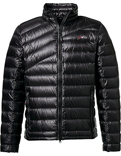 YETI Purity M's Lightweight Down Jacket Herren Daunenjacke Jacke, Black, Größe XL